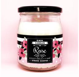 Rose - Duża świeca